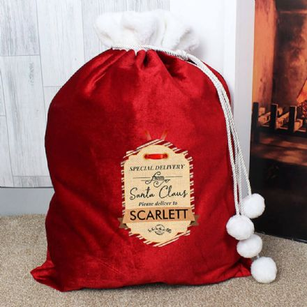 Personalised Luxury Pom Pom Sack - Special Delivery